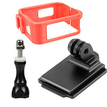 FEICHAO Camera Protective Frame 3D Printed PLA Black Cuttlefish Helmet Mount for Gopro MAX Panoramic Camera