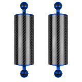 BGNing 2PCS Carbon Fiber Float Buoyancy Aquatic Arm Dual Ball Floating Arm Extend Bracket D60MM Camera Underwater Diving Tray for Gopro Camera
