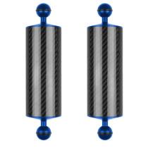 BGNing 2PCS Carbon Fiber Float Buoyancy Aquatic Arm Dual Ball Floating Arm Extend Bracket D60MM Camera Underwater Diving Tray for Gopro Camera
