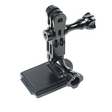 FEICHAO Cuttlefish Dried Helmet Mount Metal 3-way Adjustable Arm for GOPRO 8/GOPRO MAX/GOPRO Full Series/GitUp and Other Sports Camera Helmet Accessories