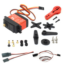 JMT 20KG Digital Servo Large Torque Metal Shell Waterproof Servo with Metal Servo Arm & Extension Cord For Car Model / Multi-rotor Aircraft / Helicopter / Robot / RC Toy