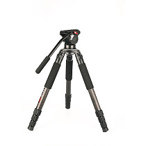 FEICHAO Extendable 4 Section Traveler Camera Tripod Stabilizer GT Carbon Fiber Portable With Gimbal For Photography