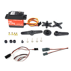FEICHAO 25KG Digital Servo Robot Arm Large Torque Metal Shell Servo Waterproof with Metal Servo Arm & Extension Cord For RC Model Car/Multi-rotor Aircraft/Helicopter/Robot/RC Toy