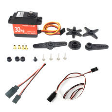 JMT 30KG Digital Servo Large Torque Metal Shell Waterproof Servo with Metal Servo Arm & Extension Cord For Car Model / Multi-rotor Aircraft / Helicopter / Robot / RC Toy