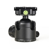 FEICHAO Tripod Low Center of Gravity Double Knob Gimbal Panoramic Aluminum Alloy Gimbal Ball 44mm 52mm ​for Camera Photography Gimbal