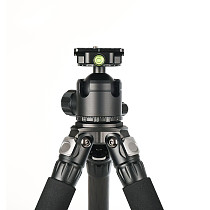 FEICHAO Tripod Stable Support for Photographic Shooting RC Carbon Fiber Tripod + Low Center of Gravity 4 Tripods Maximum Tube Diameter 32.5mm Suitable for Micro SLR