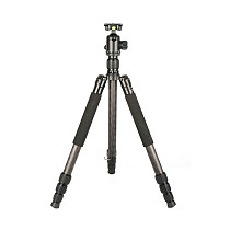 FEICHAO Tripod Stable Support for Photographic Shooting W Carbon Fiber Tripod + Pan/Tilt 4-section Tripod Maximum Tube Diameter 32.5mm Suitable for Micro SLR