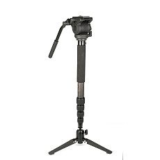 FEICHAO Monopod Stable Support for Photography Shooting V Monopod 4-section Monopod Maximum Tube Diameter 29mm Carbon Fiber Tube Suitable for Camera Photography