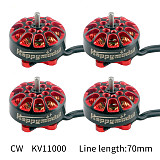 4PCS Happymodel EX1203 KV11000 Brushless Motor 1.5mm Shaft CW CCW for 3 inch FPV Racing Drone 1S Toothpick