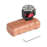 BGNing Rabbit Cage Wood Left Hand Handle with M6 Gear Connector For SLR Camera