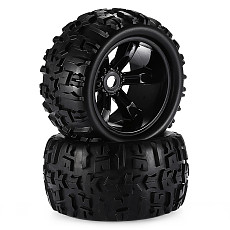 FEICHAO 2x 150mm Rubber 1/8 RC Car Off Road Truck Tire & Wheel Rims Hex 17mm for Redcat Hsp Kyosho Hobao Hongnor DHK 1:8 4WD Bigfoot Car