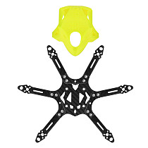 FEICHAO Mini 175mm Six-Axis Aircraft FPV Carbon Fiber Frame for 3 inch Blade With TPU 3D Printing Camera Fixed protective Seat.