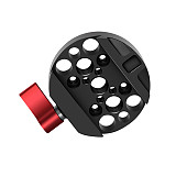 FEICHAO Quick Release Plate Adapter for Camera with 3/8 Mounting Screw for DJI Ronin MX DSLR Camera Photo Studio Stabilizer Kit
