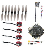 FEICHAO DIY RC Drone Accessories Kit AIO412T F4 AIO F411 FC +12A ESC 1204 5000KV Motors 3018 Propeller FE200T 5.8G VTX for FPV Racing Drone Toothpick Quadcopter