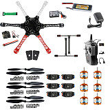 XT-XINTE F550 Airframe RC Hexacopter Drone Kit DIY PNF Unassembly Combo Set with Kkmulticopter Flight Controller for Beginners (with Battery and Remote Controller)