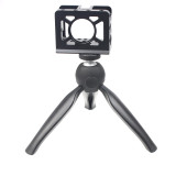 BGNing Camera Cage Stabilizer with Mini Tripod for Sony RX0 II Protective Cover Vlog Bracket