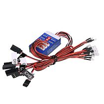 FEICHAO 12 LED Simulation Light Realistic Flash Smart System Kit for RC 1/10 Car