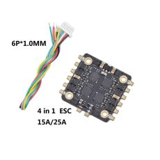 FEICHAO EM15A EM25A 20x20mm 15A/25A BLheli_S 2-4S 4in1 DShot600 Brushless ESC for RC Drone FPV Racing Quadcopter Multicopter