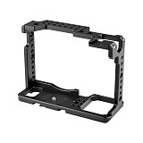 BGNing Camera Cage for Panasonic Lumix DC-S1 /S1R Cage With Cold Shoe and Nato Rail For S1/S1R Video Shooting Cage -2345
