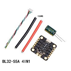 FEICHAO BL32 40A 55A 4IN1 3-6S ESC BLheli32 DShot1200 4in1 Brushless ESC for FPV Racing Drone Quadcopter Aircraft