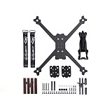 iFlight TurboBee 160RS 165mm DIY FPV RC Drone Carbon Fiber Frame Kit with 3D Print 14mm Camera Canopy for DIY Racing Quadcopter Support 1404 Brushless Motor