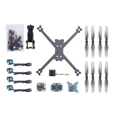 iFlight TurboBee 160RS Airframe RC Hexacopter Drone Kit DIY Build Kit with SucceX Micro F4 F1.5 Flight Controller Caddx.us Turbo Eos V2 FPV Cam for Beginners (No Battery and Remote Controller)