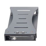 XT-XINTE Aluminum Single Bay 2.5  Case SATA HDD Internal Enclosure Mobile Rack to 3.5inch SATA SDD Support 7-15mm Drives