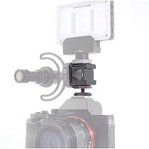 BGNing Portable Camera Mount Adapter Extend Port Monitor Camera Base Microphone Multi-Functional Triple Base Head Hot Shoe Base