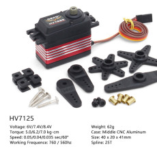 DEKO HV7125 HV7295 ​Standard High-voltage Digital Servo Steering Gear for RC Helicopter