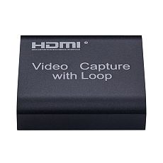 XT-XINTE HDMI Capture Card Video Capture 4K 1080P USB 2.0 HDMI Video Capture Card Grabber + Loop Output for Phone PS4 Game Live Streaming