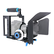 Feichao Universal Camera Cage for Canon for Sony for Nikon for Panasonic DSLR Support Mount Photography Rig Rail Rod Follow Focus System