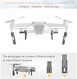 Sunnylife Extended Landing Gear For DJI Mavic Air 2 Heightening Foldable Support Leg Protector Drone Accessories