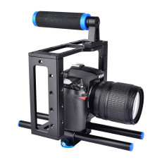 BGNing Universal Camera Cage for Canon for Sony for Nikon for Panasonic DSLR Support Mount Photography Rig Rail Rod Follow Focus System