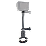 BGNing Aluminum Alloy Bicycle Clip 360° Rotating Clamp 108mm Extension Bracket for GoPro 7 / 8 / Max Action Camera