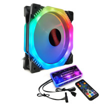 COOLMOON ARK2 120mm Adjust RGB Computer Case PC Cooling Fan Quiet with IR Remote Controller New Computer Cooler RGB CPU Case Fan