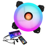COOLMOON Sunshine 120mm RGB Computer Case PC Cooling Fan with IR Controller Quiet Adjustable Colorful Cooling Cooler Computer Cooler RGB CPU Case Fan