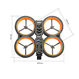 Diatone MXC Taycan 349/369 158mm 3inch CineWhoop Freestyle Duct Drone Carbon Fiber FPV Frame for RC Duct Drone Racing Freestyle
