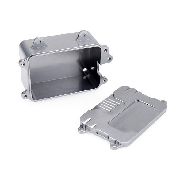 FEICHAOESC Equipment Box Aluminum Alloy CNC Precision Processing Receiver Box for SCX10 Wrangler Climbing Car 