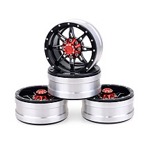 FEICHAO 4PCS/Pack 1.9inch Metal Wheel Rims Universal for 1/10 RC Crawler Trx4 Scx10 D90