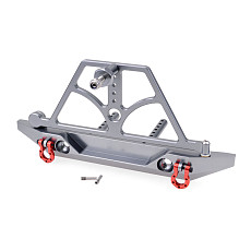FEICHAO RC Axail SCX10 Rear Bumper With Spare Tire Rack Winch Hook For 1/10 RC Crawler Car RC4WD D90 Aluminum Alloy Upgrade Parts