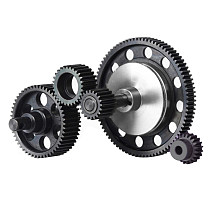 FEICHAO Complete Set Hardened Steel Transmission Gears With Motor Gear for 1/10 RC Crawler Car Axial SCX10 Gearbox Upgrade Parts