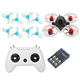 FEICHAO Mobula6 1S 65mm Brushless WhoopDrone Crazybee F4 Built-in 5.8G VTX LiteRadio OpenTX 2.4G 8CH Radio Transmitter Remote Controller Battery Charger Board 
