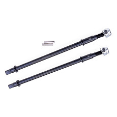 FEICHAO 2pcs Hard Steel Front/Rear Axle CVD Drive Shaft Dogbone For 1/10 Rc Crawler Axial Scx10