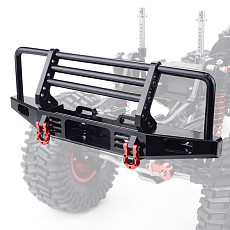 FEICHAO Adjustable Metal Front Bumper for 1/10 RC Crawler Traxxas TRX4 Defender Axial SCX10 SCX10 II 90046 90047