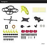 LDARC ET85D Cinewhoop 87.6mm Wheelbase Frame Kit Carbon Fiber Main Board for ET85D Racing Drone Quadcopter Helicopter