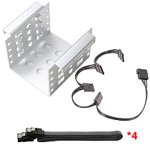 XT-XINTE 4-Bay 2.5 Inch to 3.5 Inch Hard Drive Caddy Internal Mounting Adapter Bracket Floppy Drive Aluminum Alloy Mobile Holder