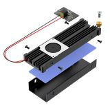XT-XINTE M.2 Solid State Hard Disk Turbofan Heatsink Heat Radiator Cooling with Sata 15pin Connector for M2 NVME SATA 2280 SSD