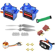 FEICHAO A2212 1000KV Brushless Motor 30A ESC SG90 9G Micro Servo 9 inch Propeller T/XT60 Plug for RC Fixed Wing Plane Helicopter