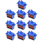 FEICHAO 10PCS FEICHAO Mini SG90 9g Micro Servo for RC Helicopter Airplane Car Boat MG90S Metal/SG90 Plastic Gear Micro Servo Optional