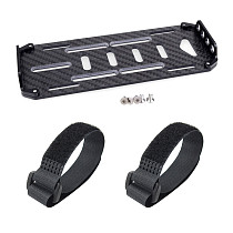 FEICHAO Carbon Fiber Battery Mounting Plate with Battery Strap for 1/10 Scale RC Crawler Car SCX-10 SCX10 RC4WD